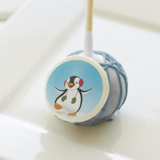 Penguin Winter Illustration - Cake Pop