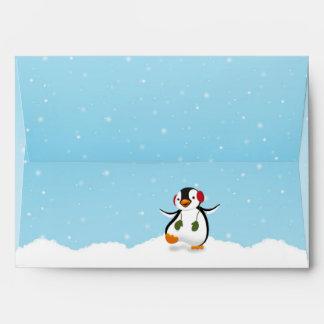 Penguin Winter Illustration - Envelope A7