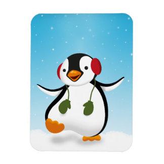 Penguin Winter Illustration - Flexible Magnet