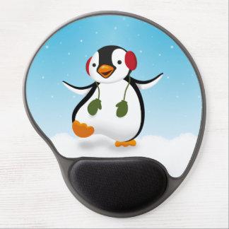 Penguin Winter Illustration - Gel Mousepad