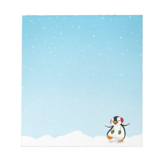 Penguin Winter Illustration - Notepad