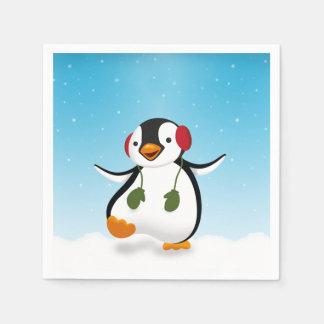 Penguin Winter Illustration - Paper Napkin