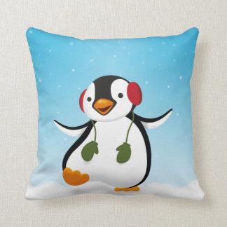 Penguin Winter Illustration - Pillow