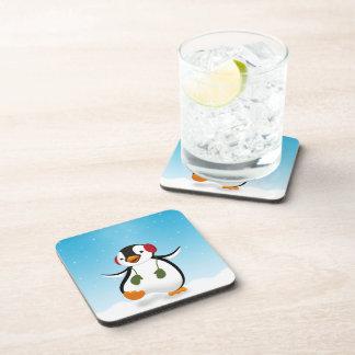 Penguin Winter Illustration - Plastic Coaster