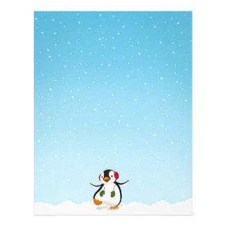 Penguin Winter Illustration - Stationery Letterhead