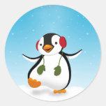 Penguin Winter Illustration - Sticker