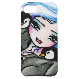 Penguin Winter Mermaid Fantasy Art iPhone Case