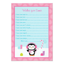 Penguin Winter Wonderland Wishes for Baby Cards