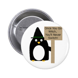 Penguin Witch Buttons