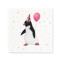 Penguin With Balloon Paper Napkin