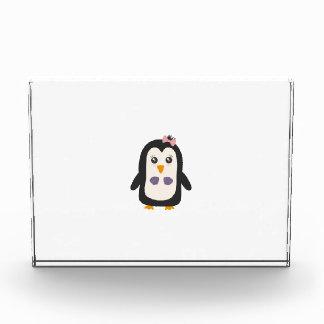 Penguin with bikini acrylic award