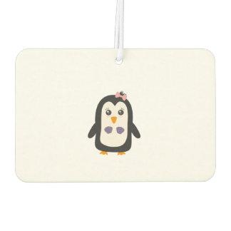 Penguin with bikini car air freshener