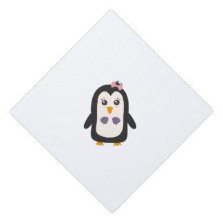 Penguin with bikini graduation cap topper