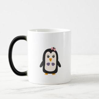 Penguin with bikini magic mug