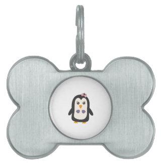 Penguin with bikini pet ID tag