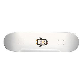 Penguin with bikini skateboard