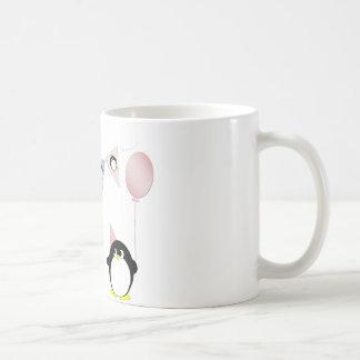 Penguin with bunting coffee mug