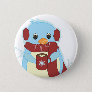 Penguin with Cocoa Pinback Button