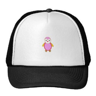 Penguin With color Pink Trucker Hat