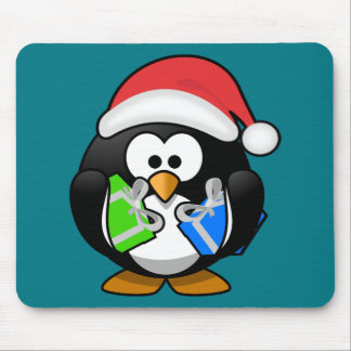 Penguin with Gifts Mouse Pad