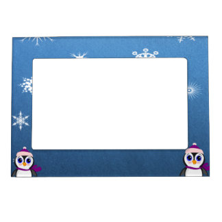 Penguin with  Hat Magnetic Picture Frame