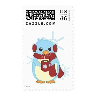 Penguin with Hot Cocoa stamp