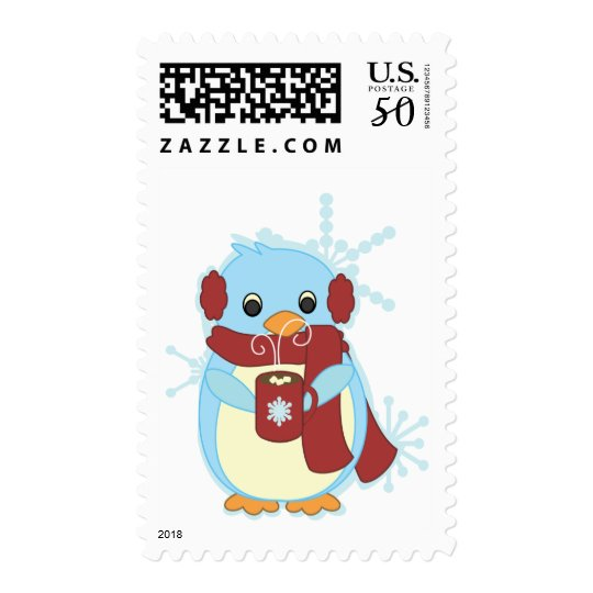 Penguin with Hot Cocoa Postage