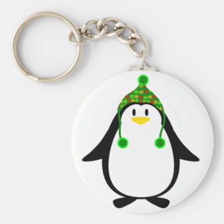 Penguin with Knit Hat Keychains