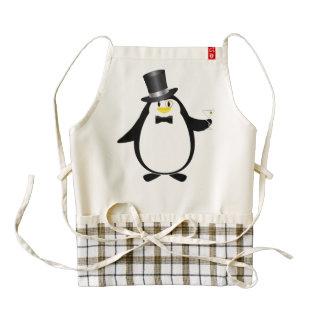 Penguin with Martini Zazzle HEART Apron
