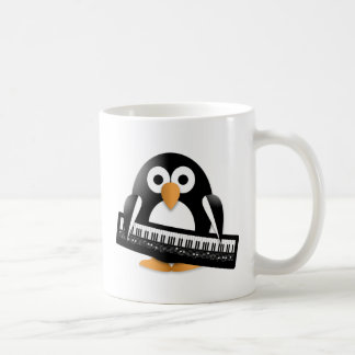 Penguin with piano coffee mug