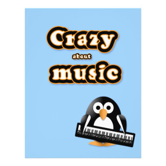 Penguin with piano keyboard flyer