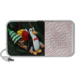 Penguin With Sled Ornament (3) iPhone Speakers