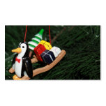 Penguin With Sled Ornament Business Cards