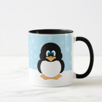 Penguin with Snowflakes Mug
