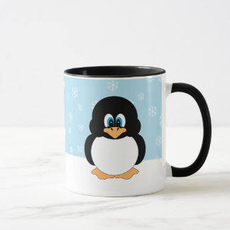 Penguin with Snowflakes Mug
