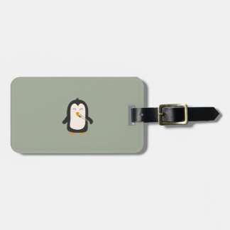 Penguin with sushi bag tag