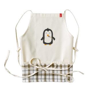 Penguin with sushi zazzle HEART apron