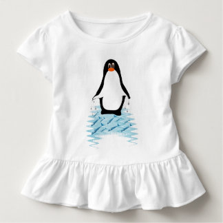 Penguin With Whales for Earth Day Toddler T-shirt