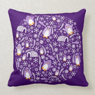 Penguin Wonderland Throw Pillows