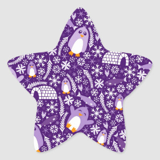 Penguin Wonderland Star Sticker