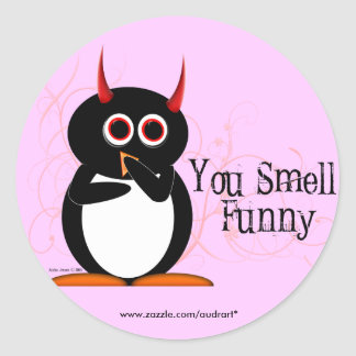 Penguin You Smell Funny Stickers