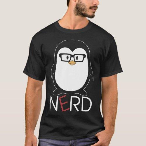 penguine Nerd t_shirts