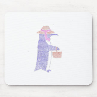 Penguing With a Basket Mouse Pad