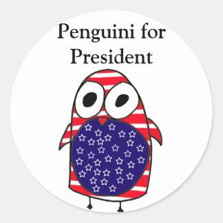 Penguini for President Sticker
