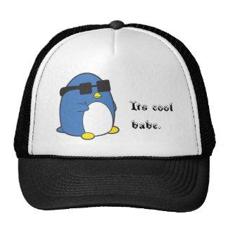 Penguino fresco gorros bordados