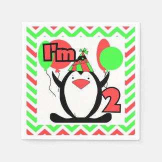 Penguins 2nd Birthday Paper Napkins