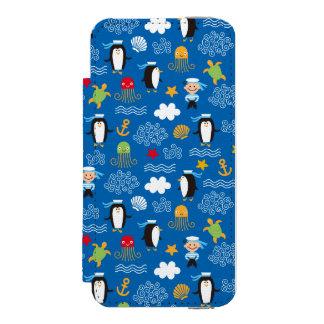 Penguins and Sailors iPhone SE/5/5s Wallet Case
