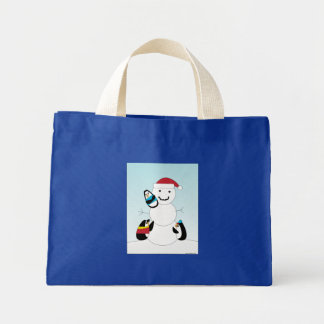 Penguins and Snowman Bag