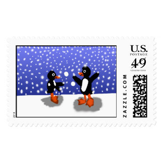 Penguins At Play Postage