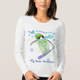 Penguins at Play, Snowboarder, Women's T-shirt